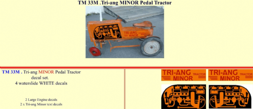 TM33M Tri-ang MINOR Pedal Tractor